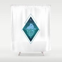 Iceberg Geometric Shower Curtain