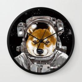 Astronaut Shiba Inu Wall Clock