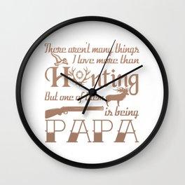 Hunting Papa Wall Clock