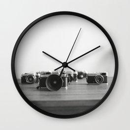 Film Cameras Wall Clock