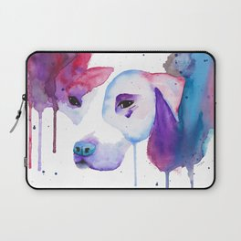 Watercolour Pitbull Laptop Sleeve