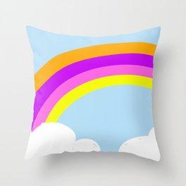 Ananda The Fairy Baby - Rainbow Throw Pillow