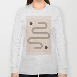 Minimal Geometric Shapes 121 Long Sleeve T-shirt