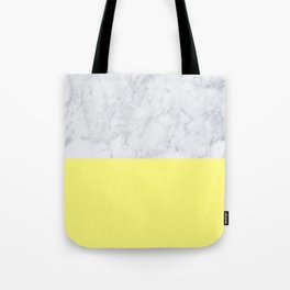 Lemon Marble Tote Bag