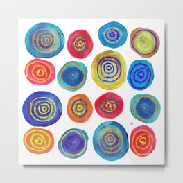 Colorful Circles Metal Print