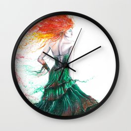 Lady Fire  Wall Clock