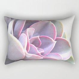 pink succulent plant Rectangular Pillow