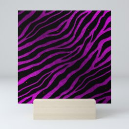 Ripped SpaceTime Stripes - Pink/Purple Mini Art Print