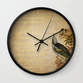 Vintage gold music #4 Wall Clock