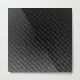 Realistic Carbon fibre structure Metal Print