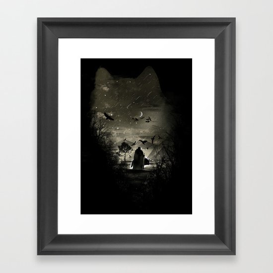 The Lord Crow Framed Art Print