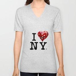 Banksy * I Love New York Unisex V-Neck