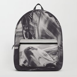 Triumph spitfire, black & white photography, Peter Lindbergh style, english sports car Backpack