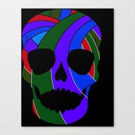 Rainbow Skull Icon Canvas Print