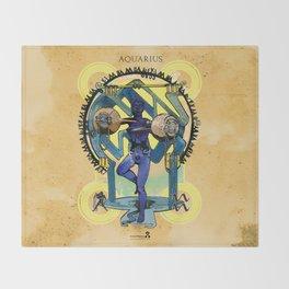 "Ars Tarot of the 12 Zodiac: ""Aquarius - The Star"" Throw Blanket"