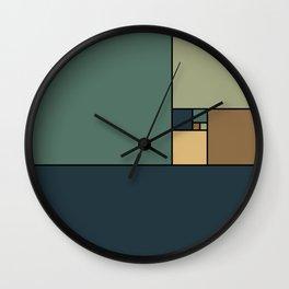 Golden Ratio Squares Wall Clock