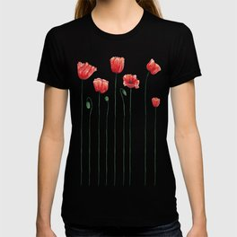 Poppies on Garnet T-shirt