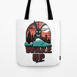 Wake up Donnie Tote Bag