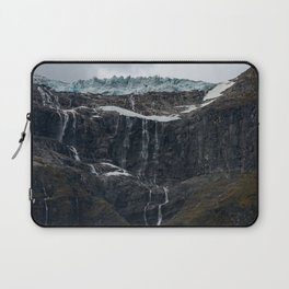 Icy Mountain Waterfall Landscape Laptop Sleeve