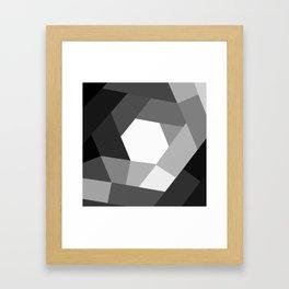 Black and white KOLOR Framed Art Print