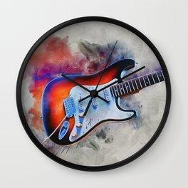Electric Gitar Wall Clock