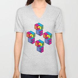 RGB (Convert to CMYK) Repeat Pattern Unisex V-Neck
