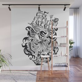 ONE INK OCTOPUS Wall Mural