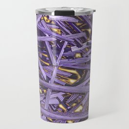 PURPLE KINDLING AND GLOWING EMBERS ABSTRACT Travel Mug