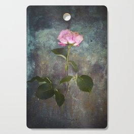 Single Wilted Rose Cutting Board