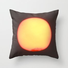 The Sun's Polluted Mask Throw Pillow