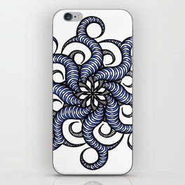 Reverse in blue iPhone Skin