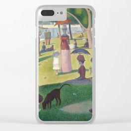 """Un dimanche après-midi à l'île de la Grande Jatte """"A Sunday on La Grande Jatte"""" Georges Seurat, 1886 Clear iPhone Case"""