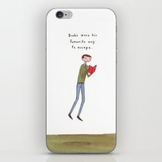 books were his favourite way to escape iPhone & iPod Skin