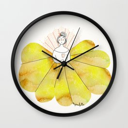 Robe couleur soleil // Putting on my sunshine dress. Wall Clock