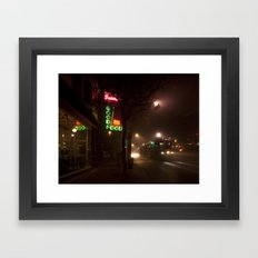 Neon Nights Framed Art Print