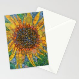 Percolated Sunflower Stationery Cards