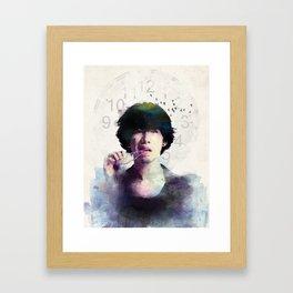 Clock Strikes Framed Art Print