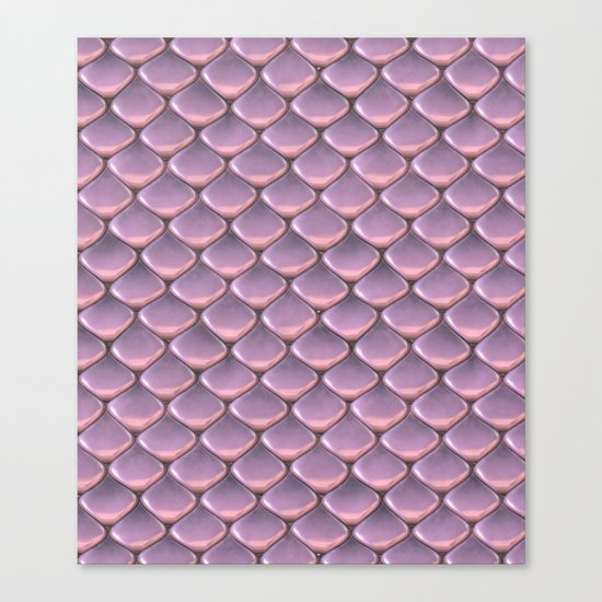 Pink Snake Skin mermaid scales Canvas Print