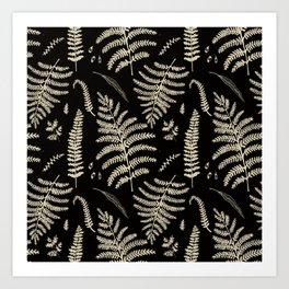 Fern Pattern 2 Art Print