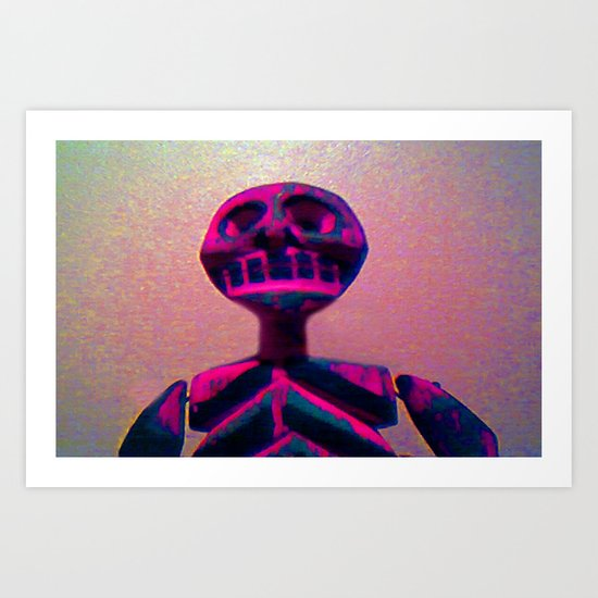 RED SKELETON Art Print
