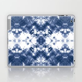 Shibori Tie Dye 4 Indigo Blue Laptop & iPad Skin