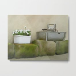 By the wall, rural Metal Print