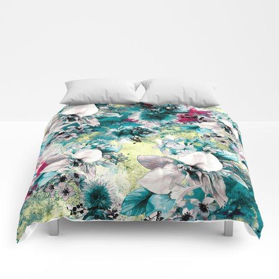 Blue Garden Comforters