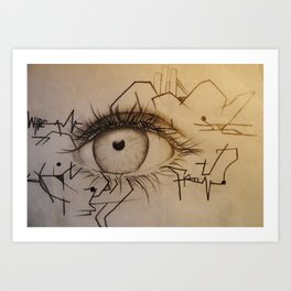 These Eyes Art Print