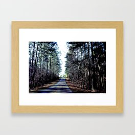 Farm Road Framed Art Print