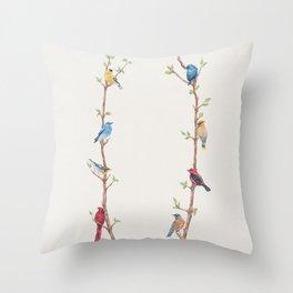 Bird Branches Throw Pillow