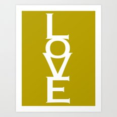 Love (Yellow) Art Print