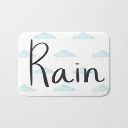 Rain clouds Bath Mat