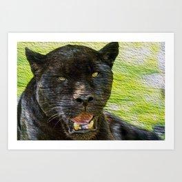 Black Panther portrait Art Print