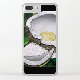 Fruit of Life (Coconut) Clear iPhone Case